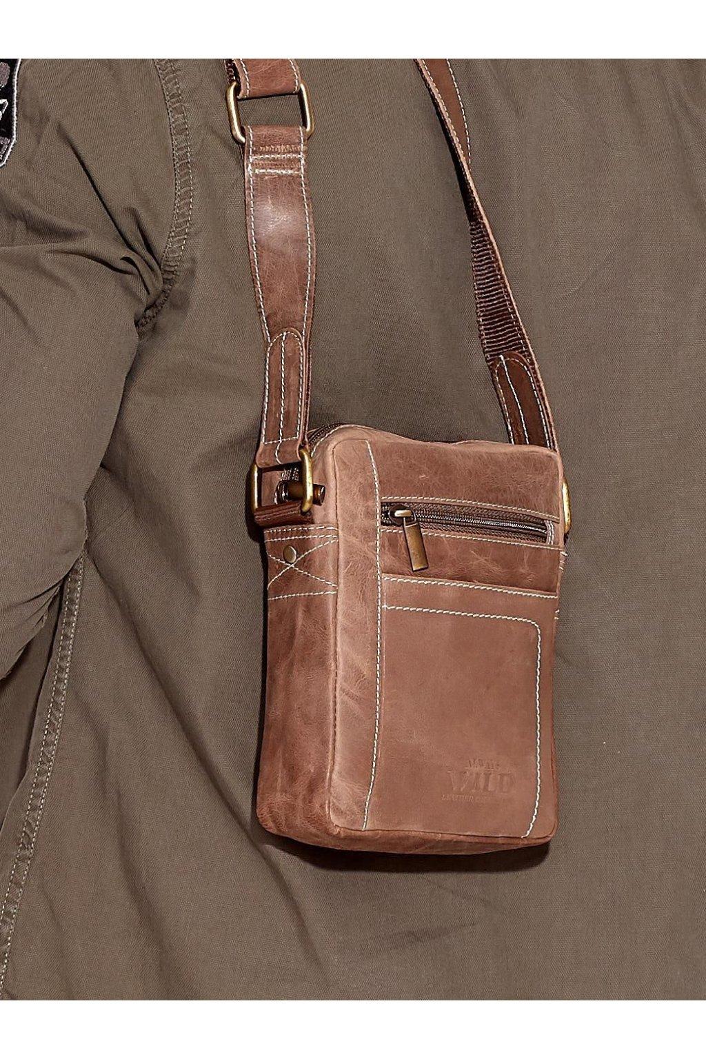Pánska kabelka hnedá kód CE-TR-250840-MH.77