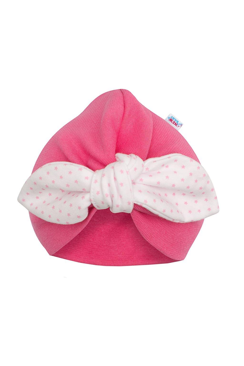Dievčenská čiapočka turban New Baby For Girls dots NJSK 41974