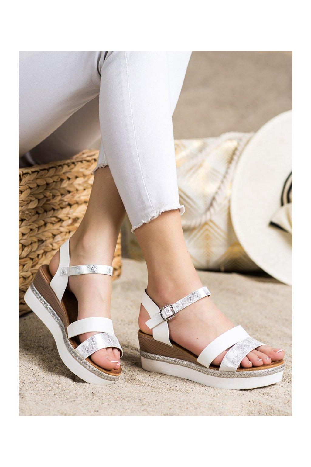 Biele sandále Shelovet kod W980W