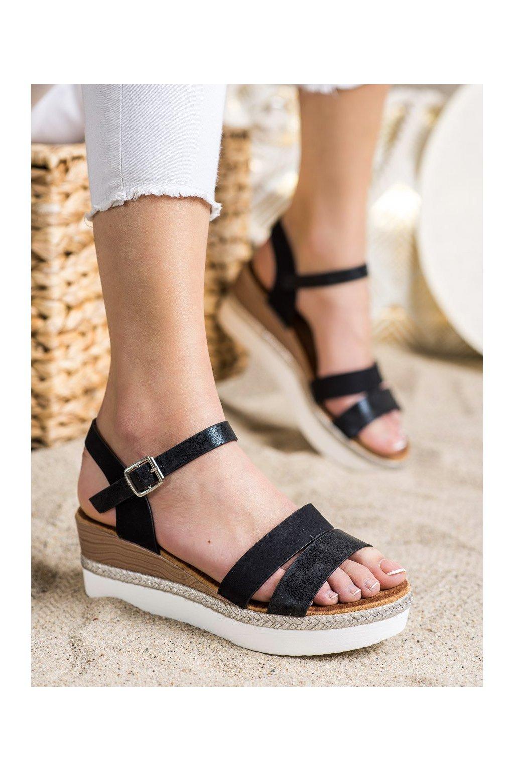 Čierne sandále Shelovet kod W980B