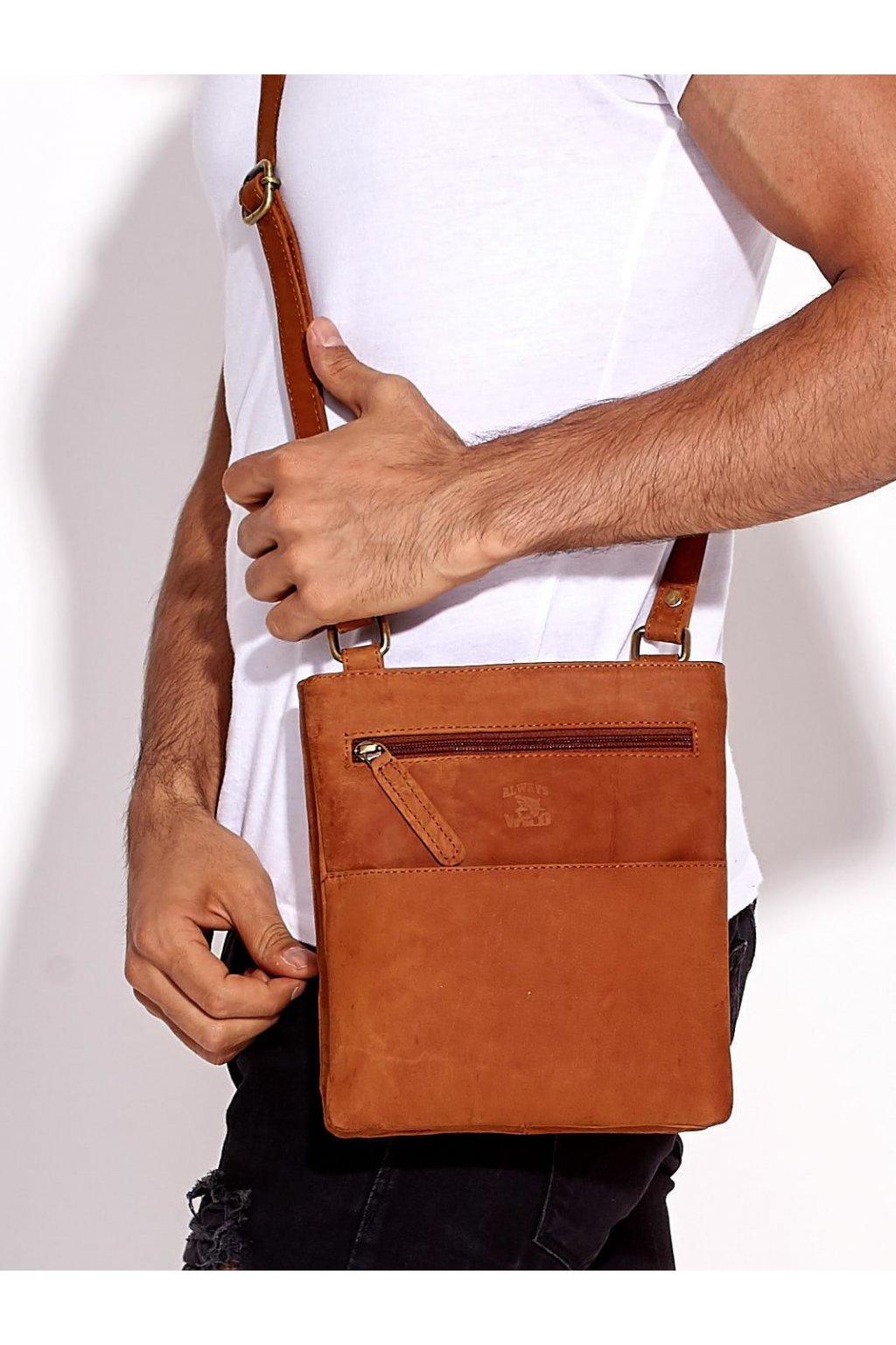 Pánska kabelka svetlo-hnedá kód CE-TR-109-CBH.14