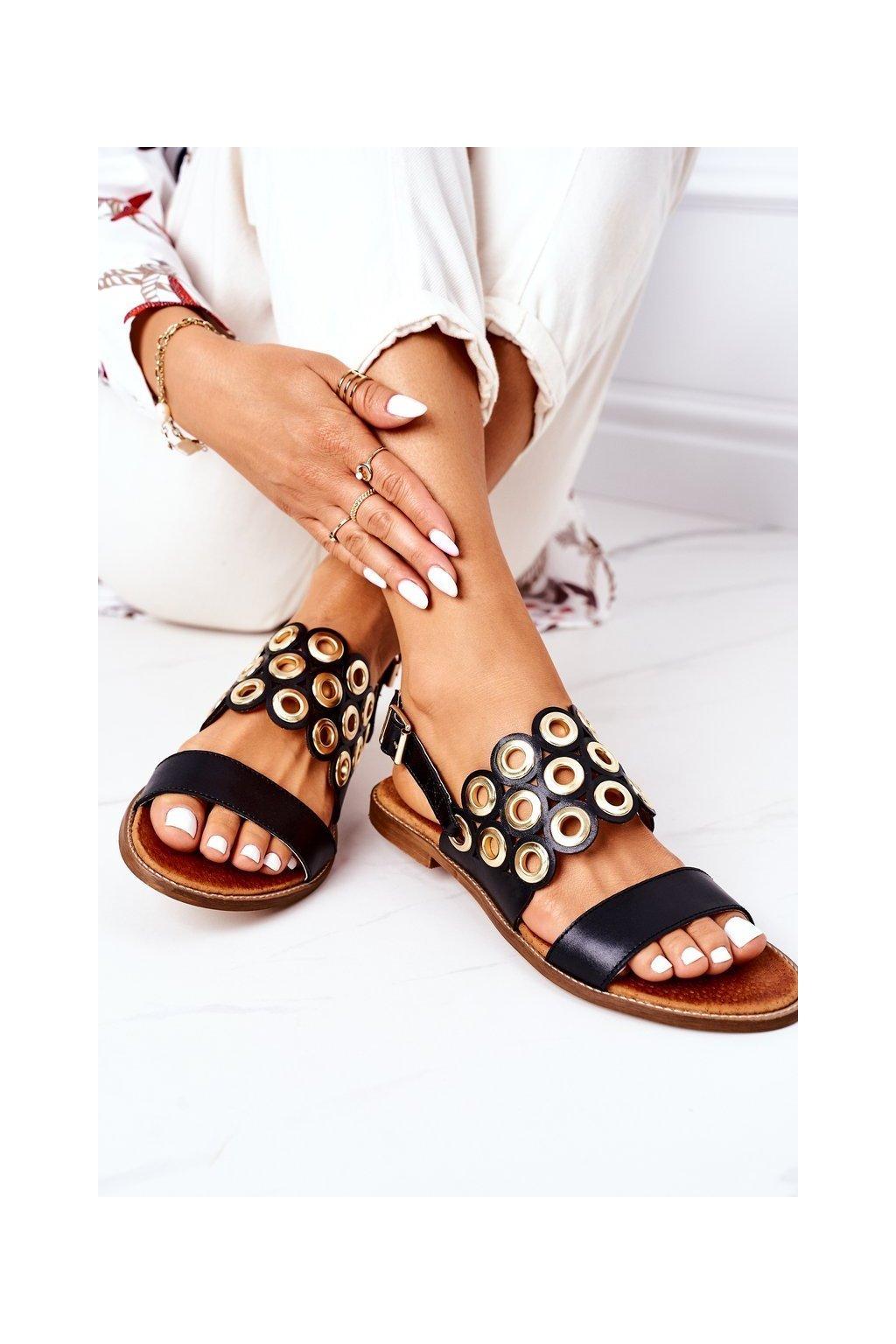 Dámske sandále farba čierna kód obuvi 3042 BLACK