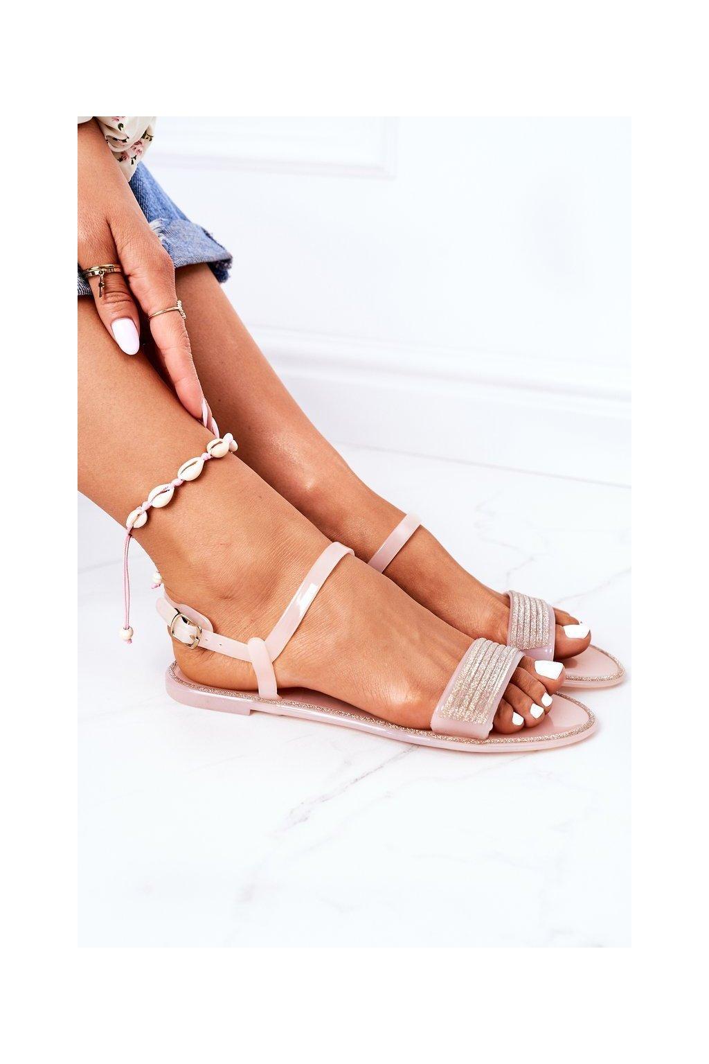 Dámske sandále farba ružová kód obuvi B609-1 CHAMPAGNE