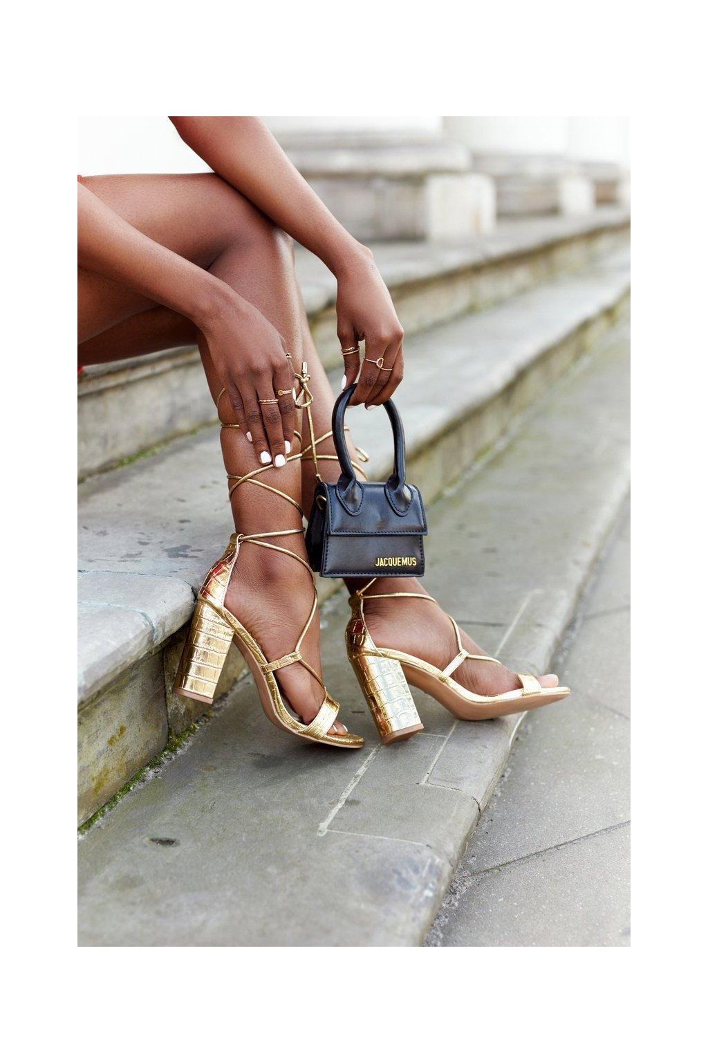 Dámske sandále farba žltá kód obuvi SY63P GOLD