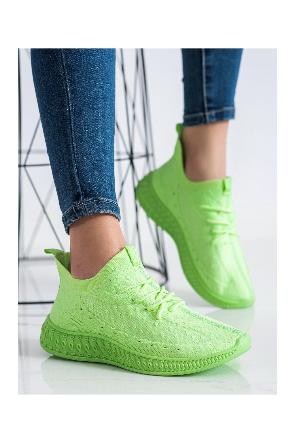 Zelené tenisky Shelovet kod PC01GR