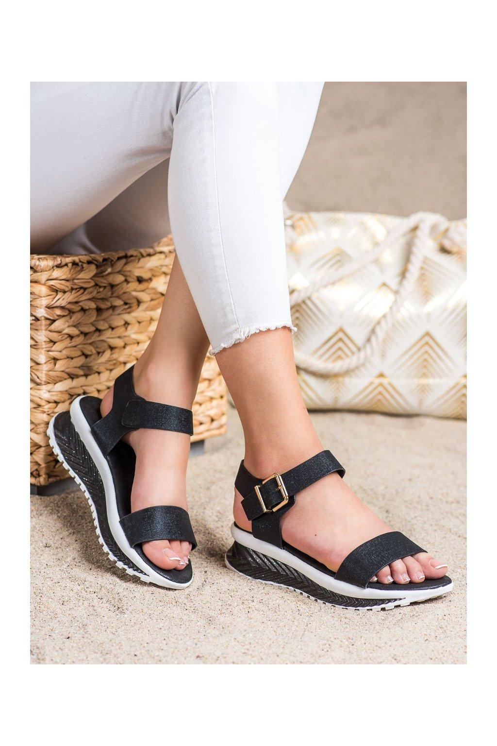 Čierne sandále Groto gogo kod G250B