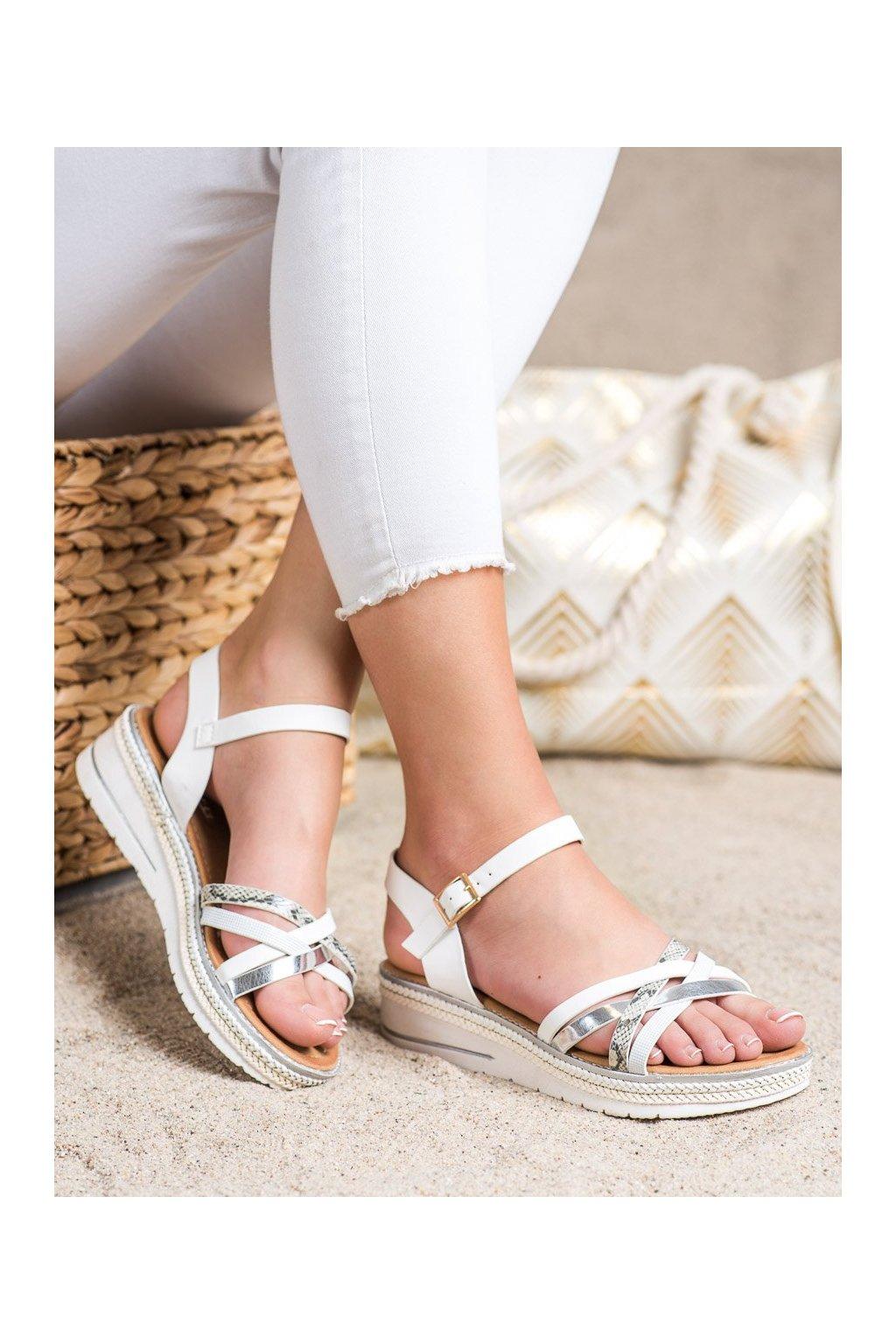 Biele sandále Groto gogo kod G245W
