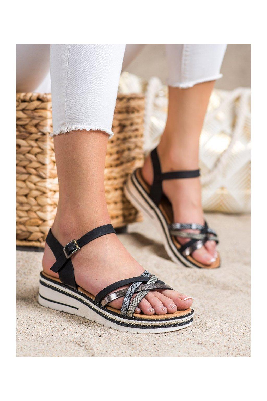 Čierne sandále Groto gogo kod G245B