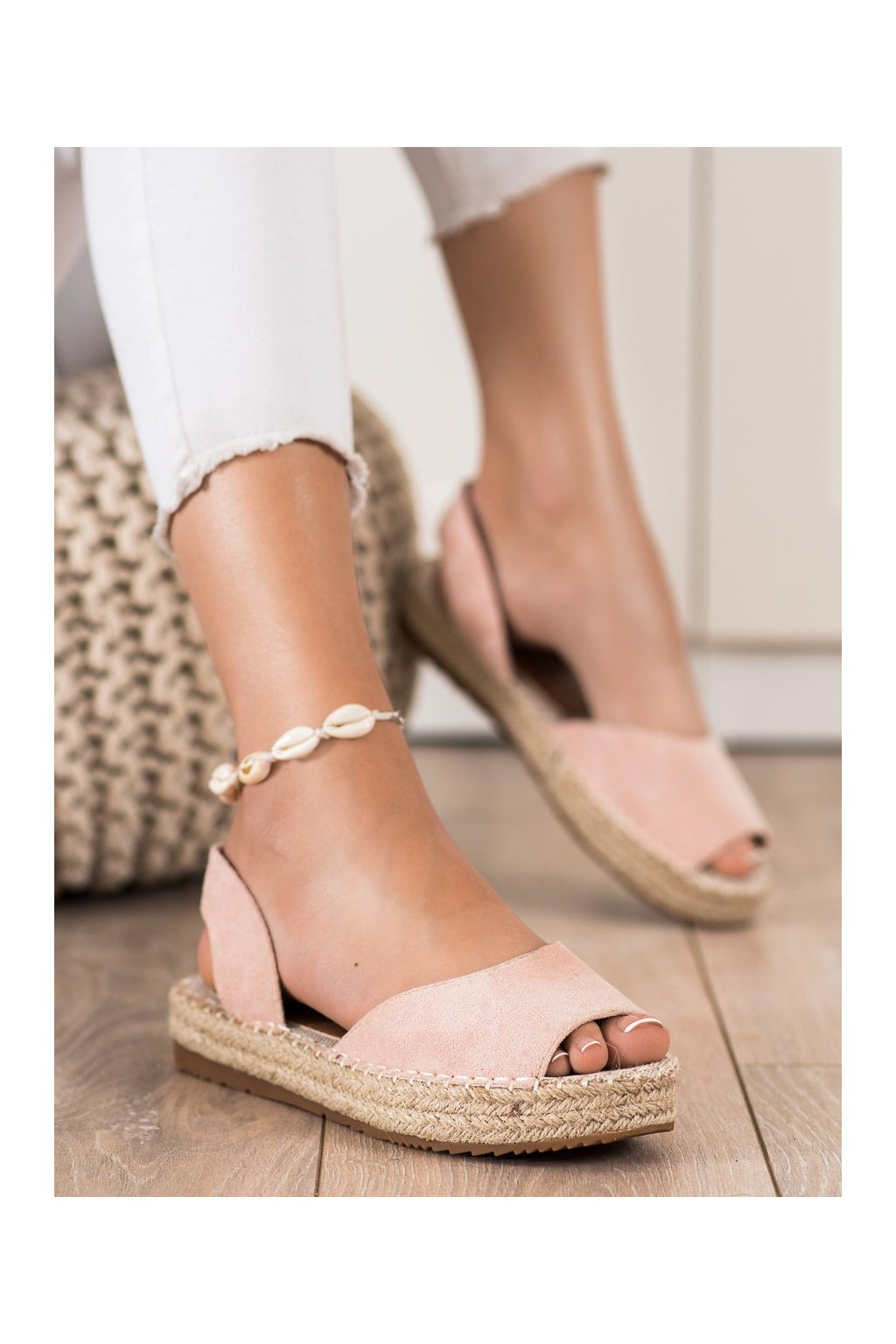 Ružové sandále Ideal shoes kod 6915P