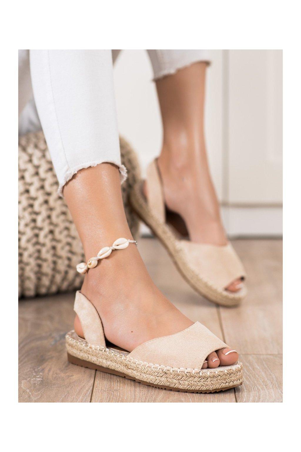 Hnedé sandále Ideal shoes kod 6915BE