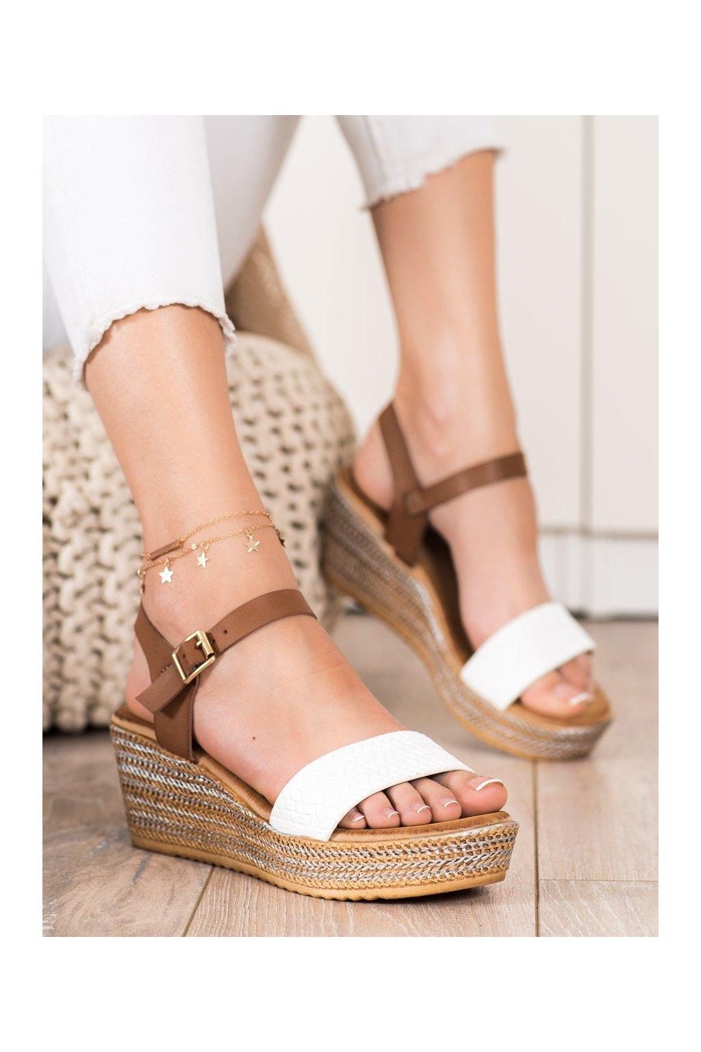 Biele sandále Bona kod 6508W