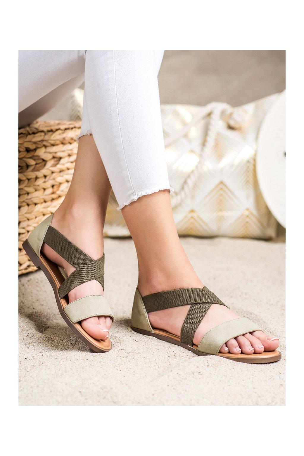 Zelené sandále Sergio leone kod SK061KH