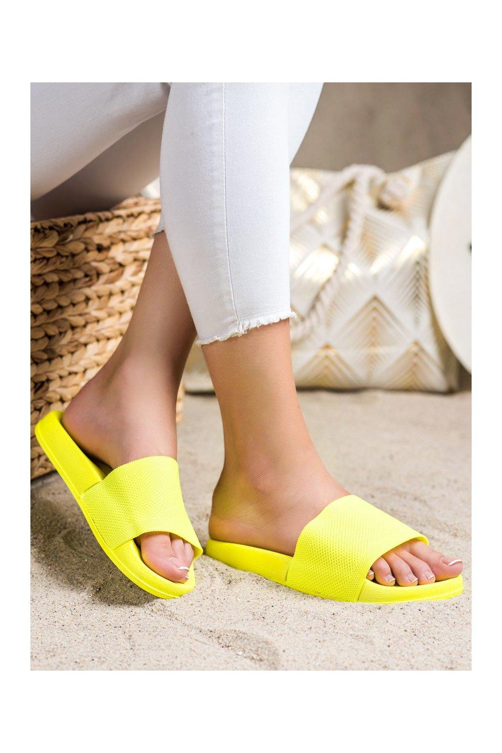 Žlté dámske šľapky Shelovet kod WS04Y