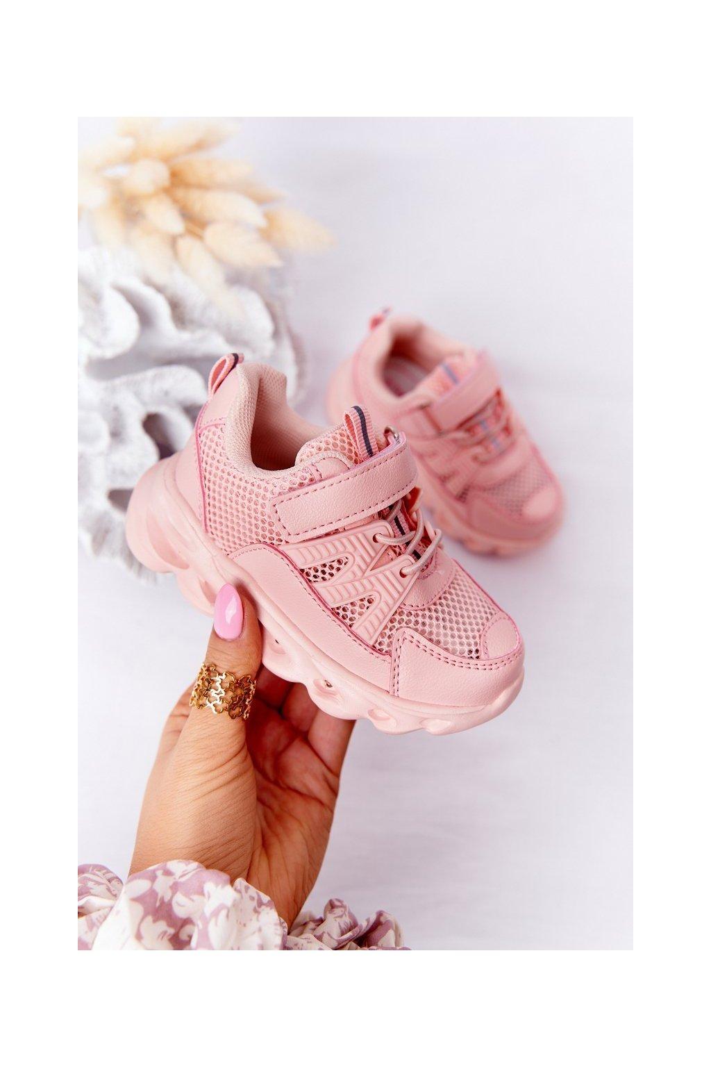 Detské tenisky farba ružová NJSK C-T7993-C PINK