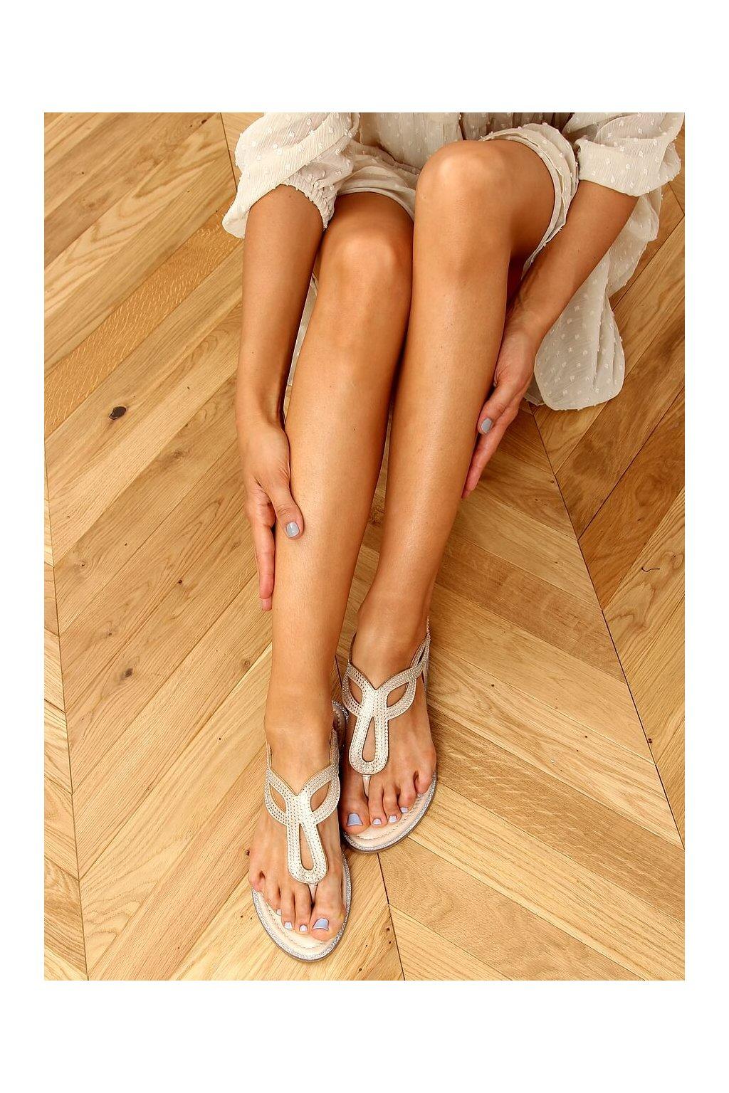 Dámske sandále žlté na plochom podpätku 6170