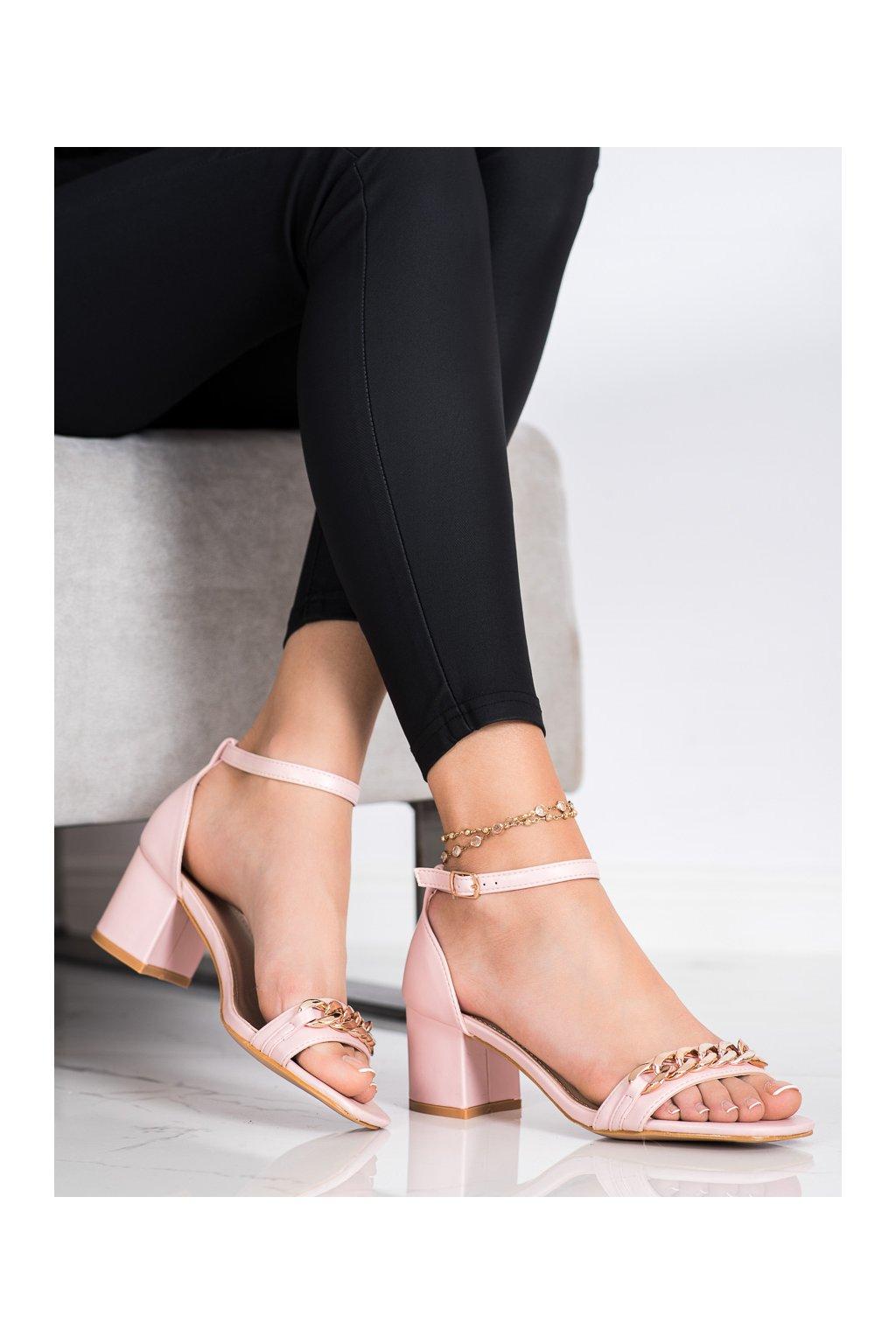 Ružové sandále Shelovet kod 100-159P