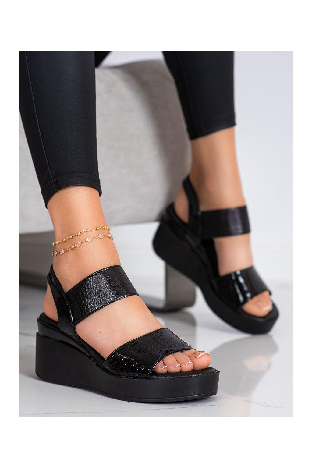 Čierne sandále Coura kod 3193B