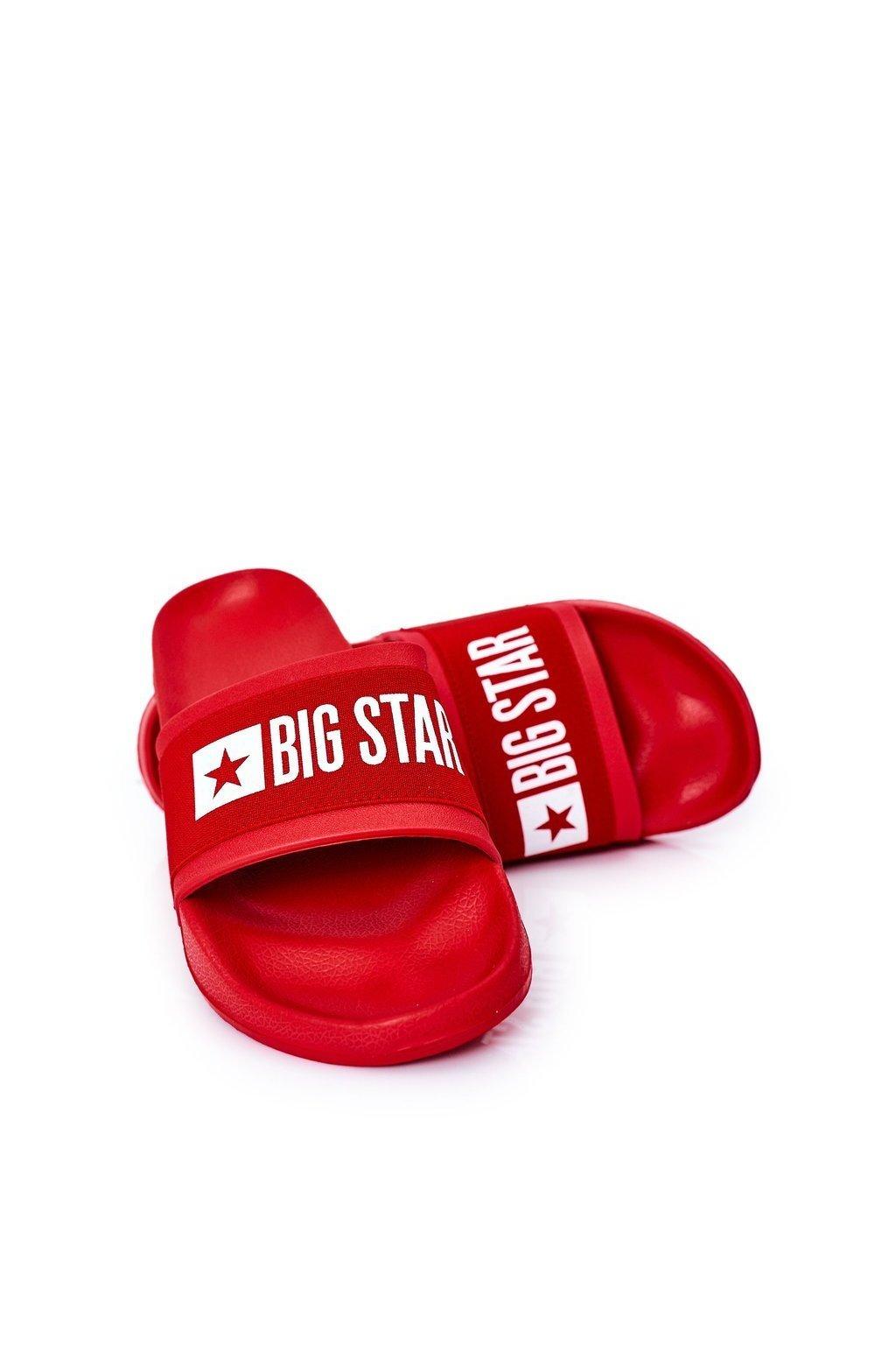 Pánske šľapky farba červená kód obuvi HH174832 RED