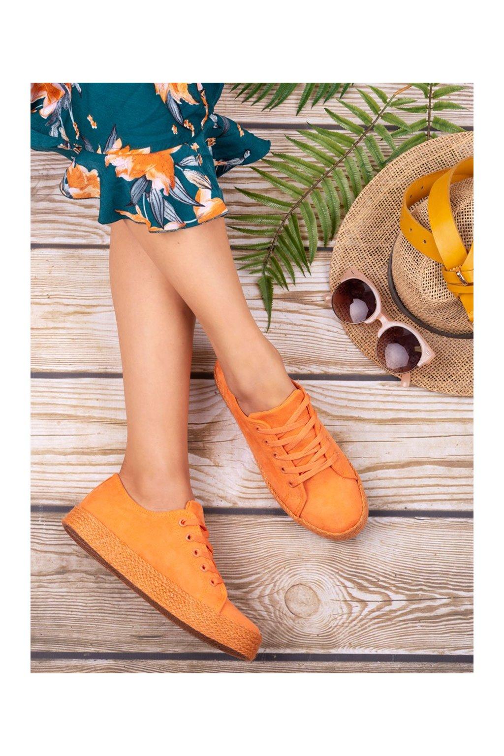 Oranžové tenisky Kylie kod K1830201NA