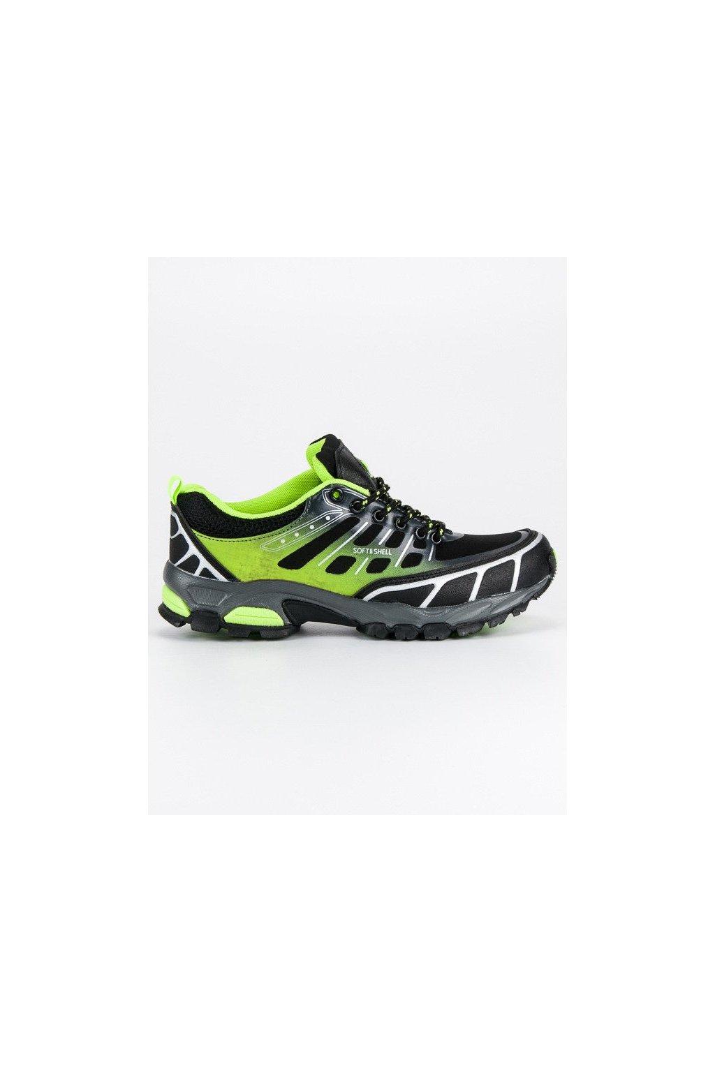 Zelené trekkingové dámske topánky Hasby kod 2147B/GR