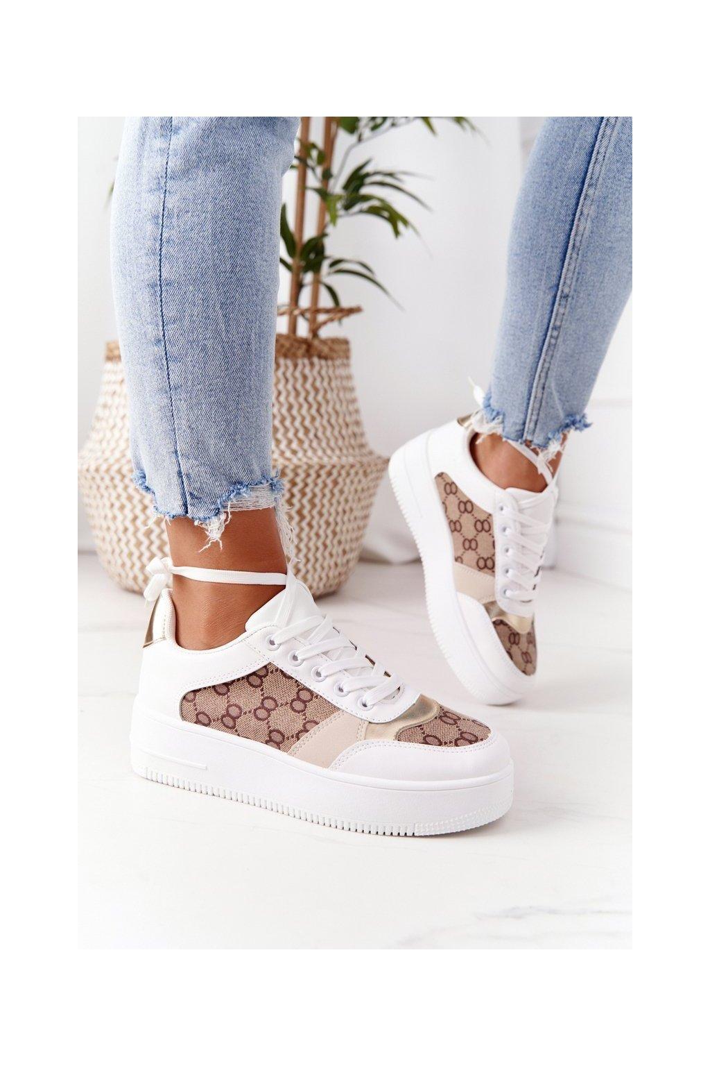 Dámske tenisky farba biela kód obuvi B0-801 WHITE/H