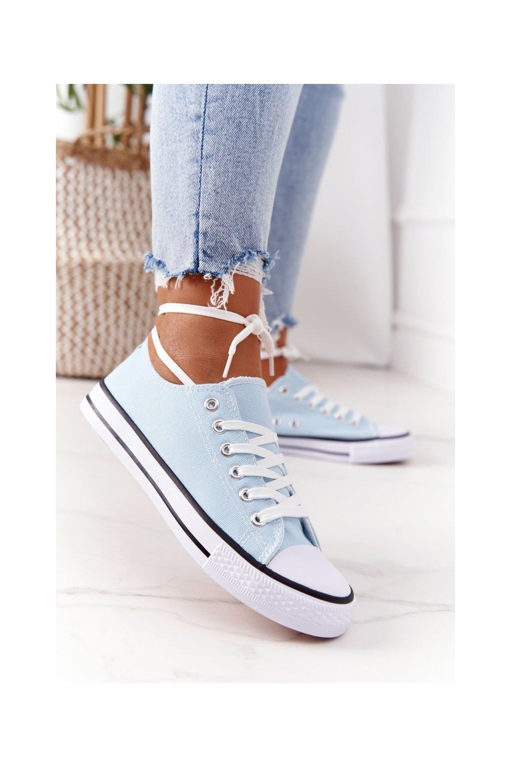 Dámske tenisky farba modrá kód obuvi XL03 L.BLUE
