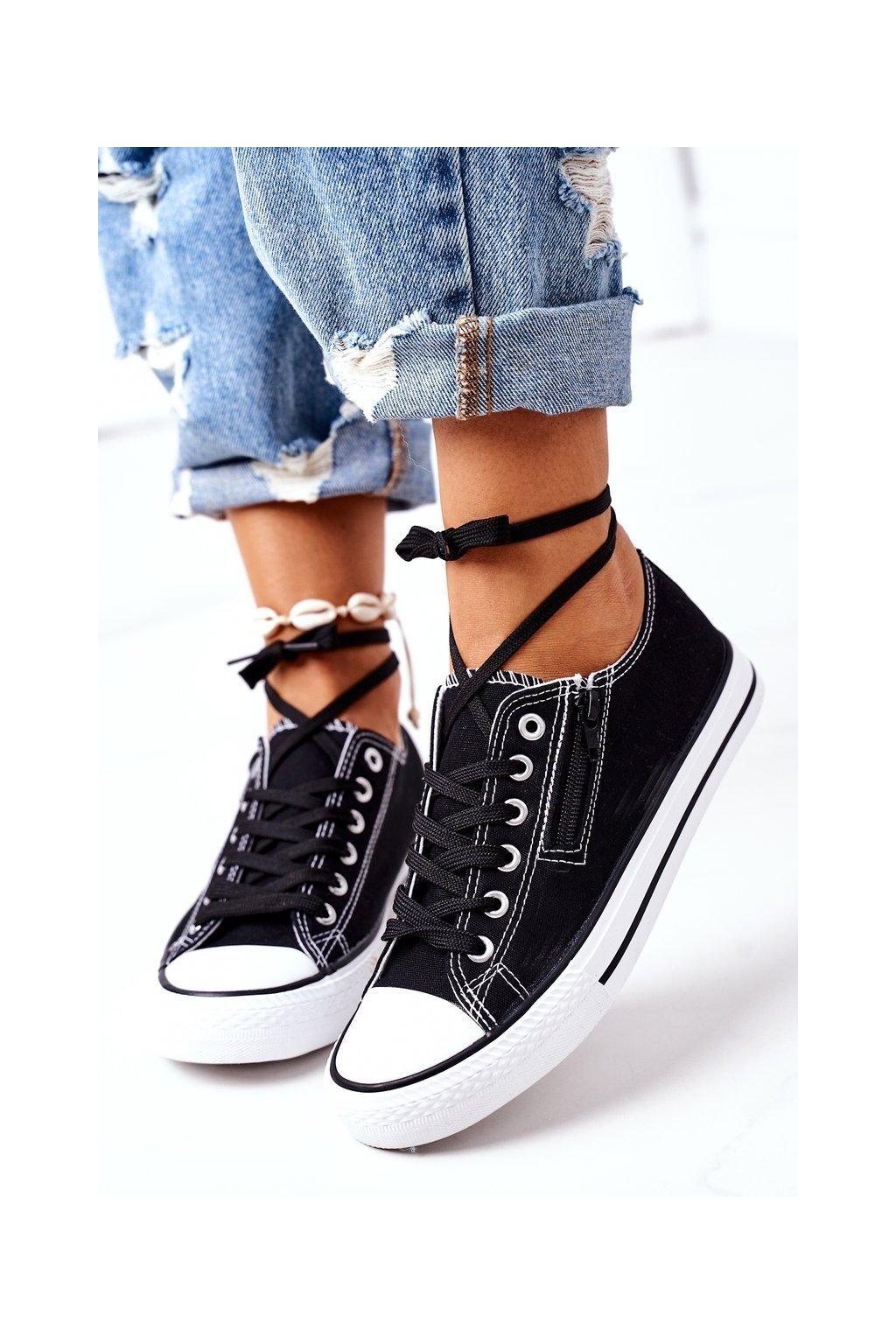 Dámske tenisky farba čierna kód obuvi KA34-1 BLACK