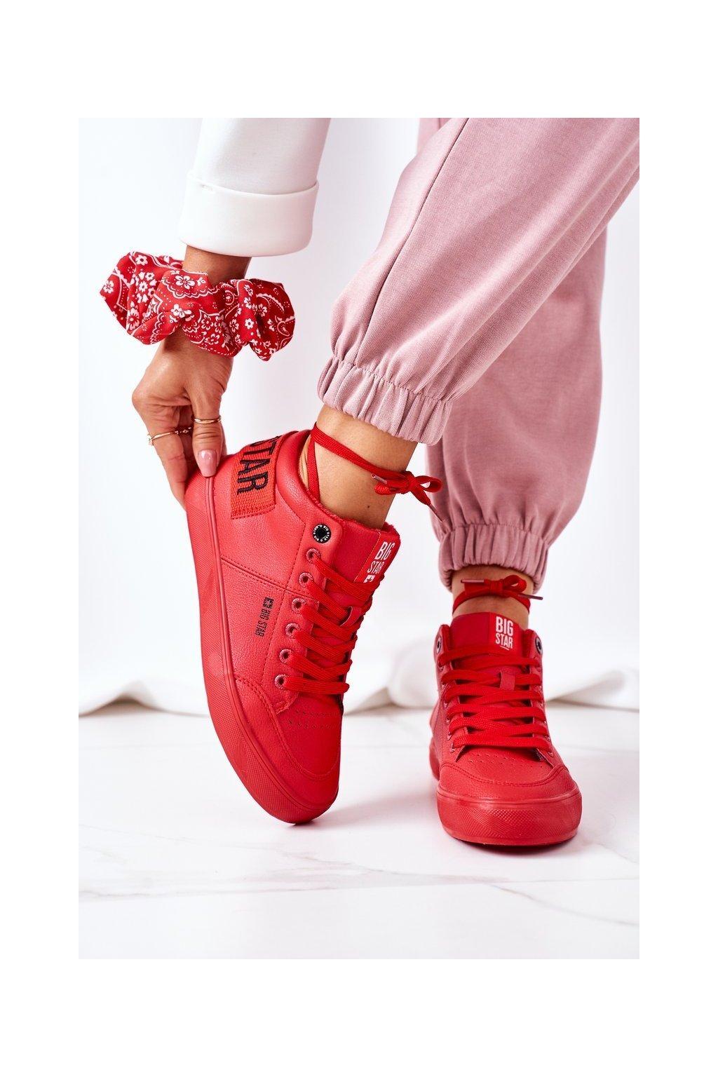 Dámske tenisky farba červená kód obuvi EE274354 RED