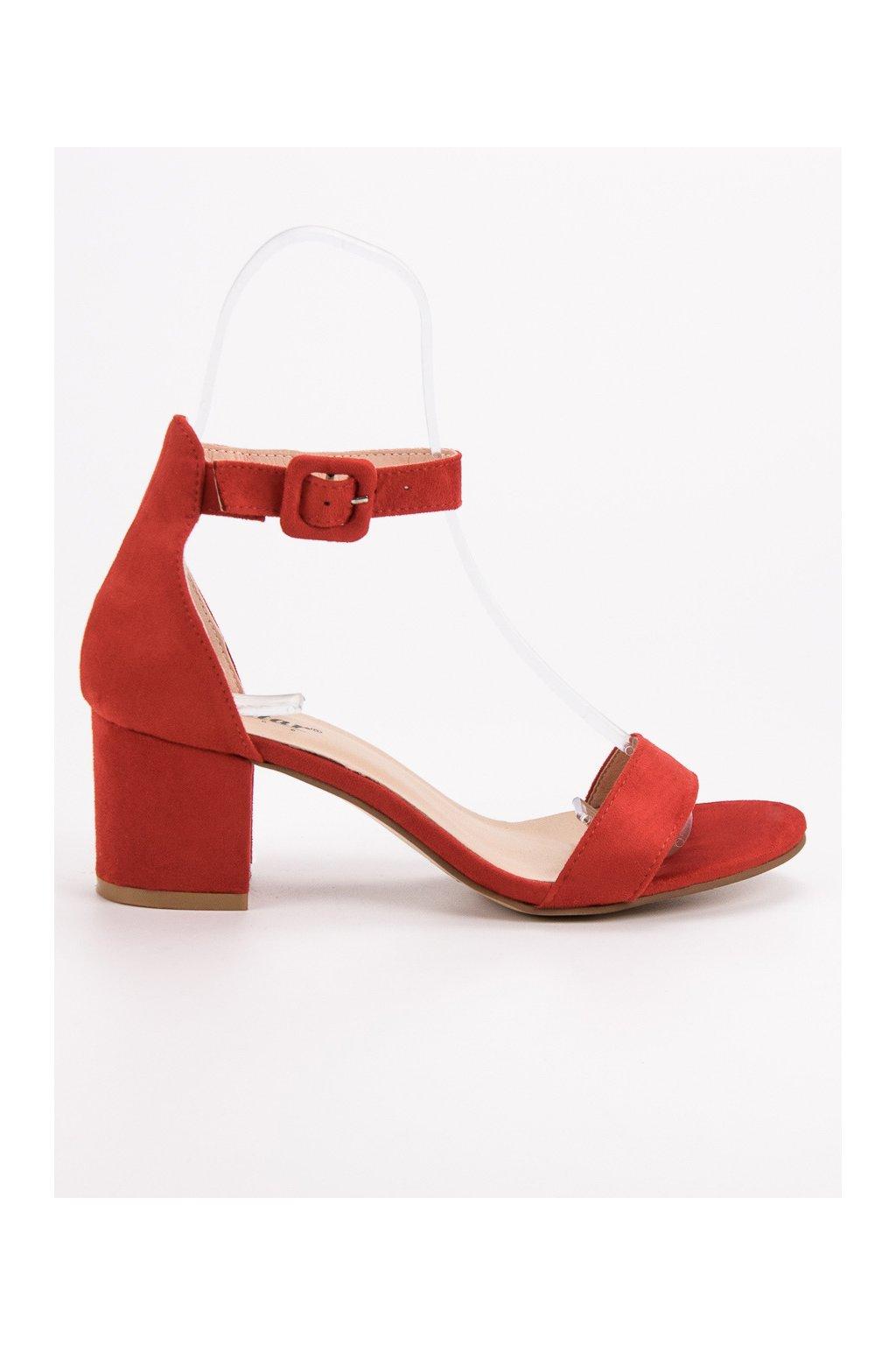 Červené dámske sandále na stĺpiku Seastar NC793R