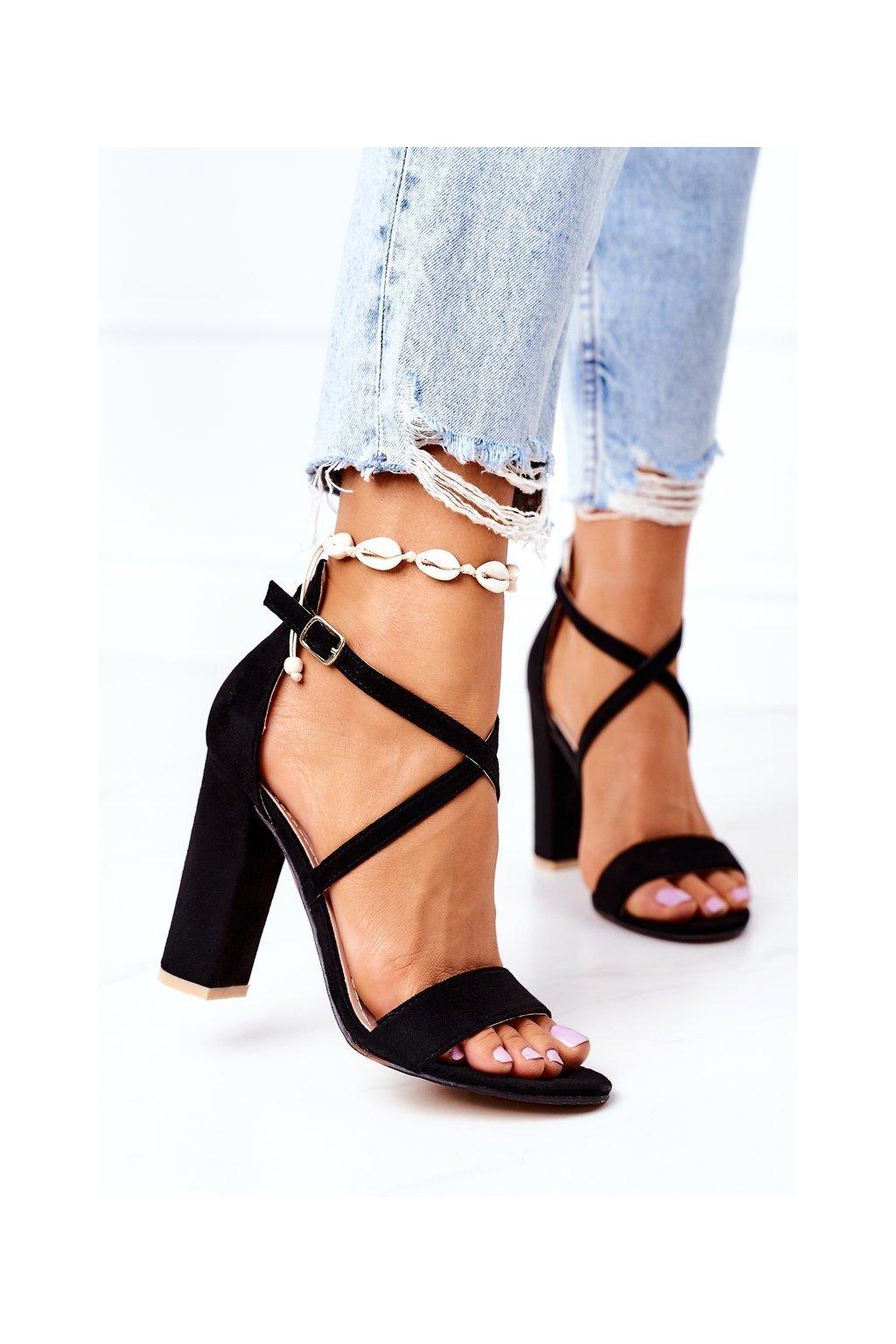 Dámske sandále farba čierna kód obuvi GG88 BLACK