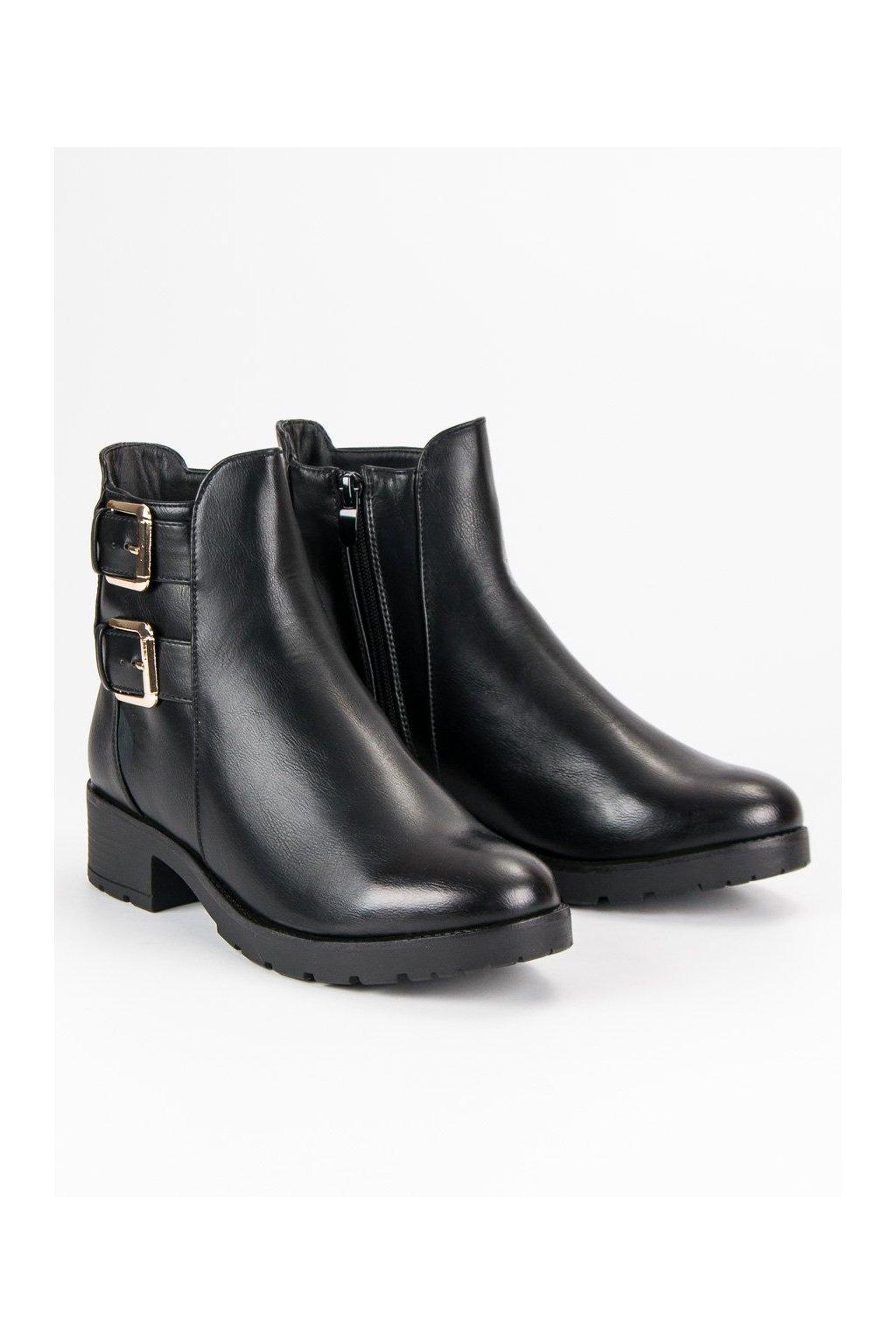 Zateplené čierne topánky J. Star
