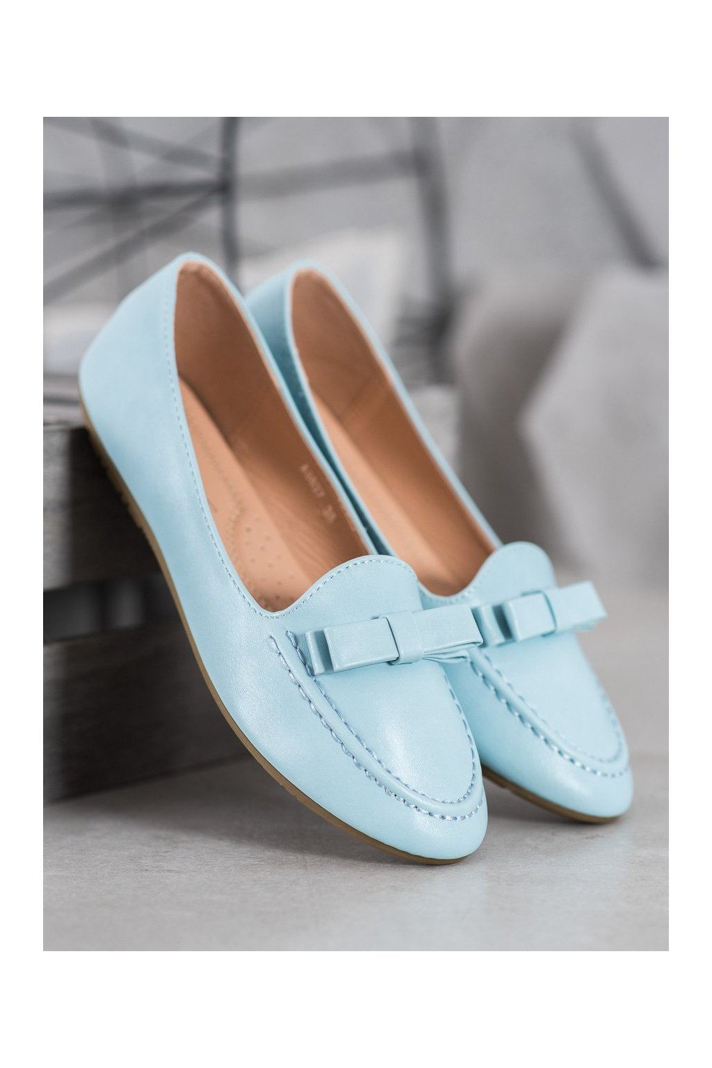 Modré dámske balerínky NJSK A8637BL