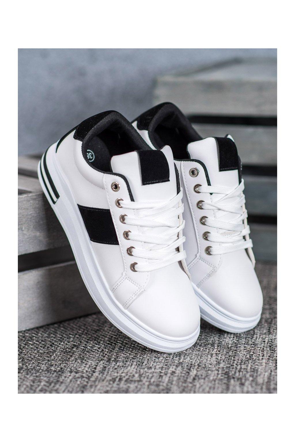Biele tenisky Shelovet NJSK AB696W/B