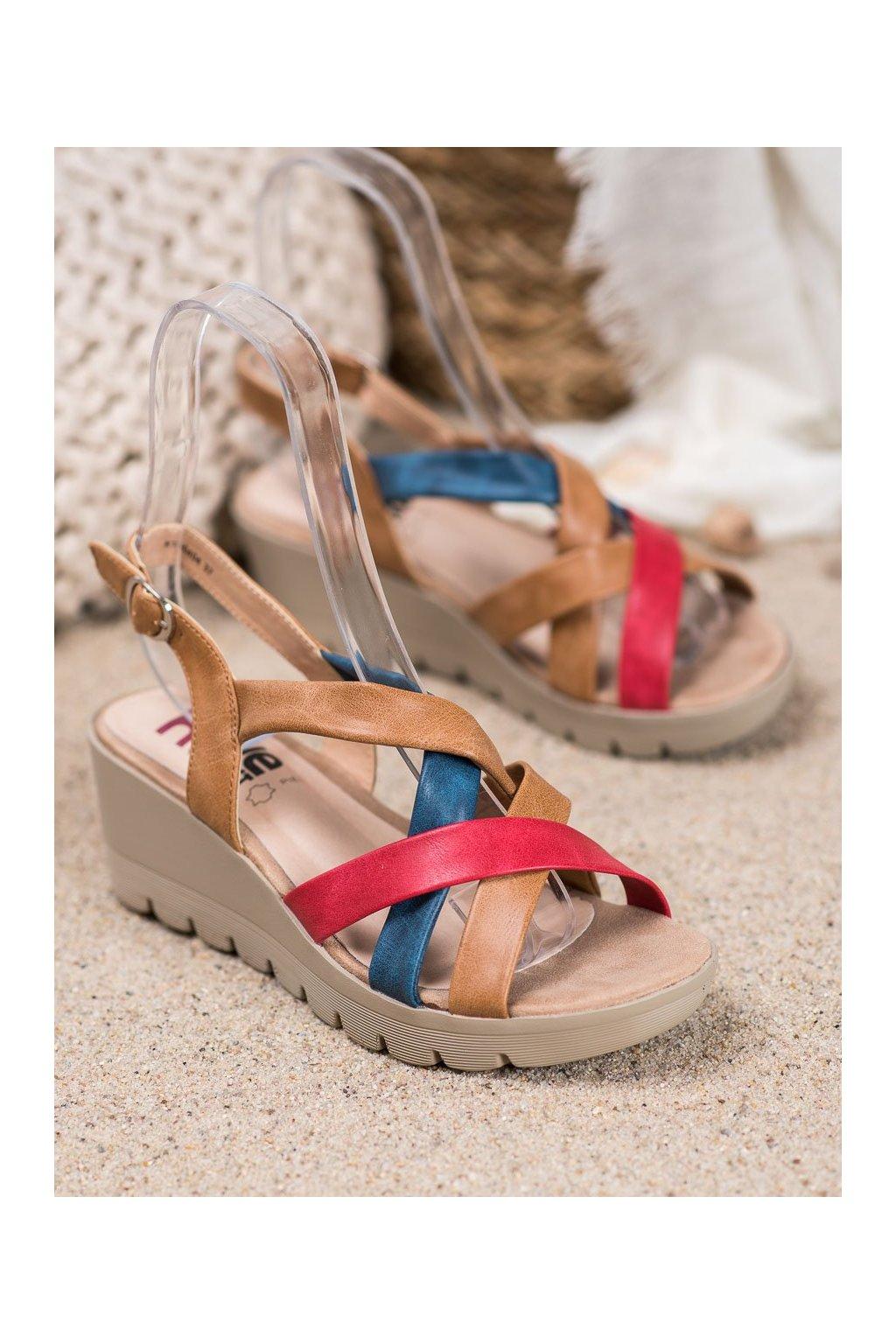 Viacfarebné sandále Kylie NJSK K1900404CU