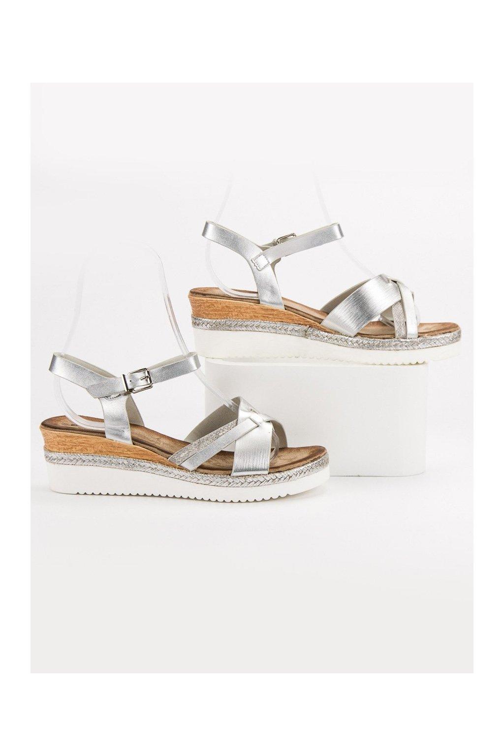 Sivé sandále Evento NJSK 9SD35-0993S