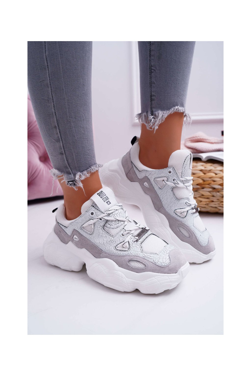 Dámska športová obuv NJSK FF274430 WHITE