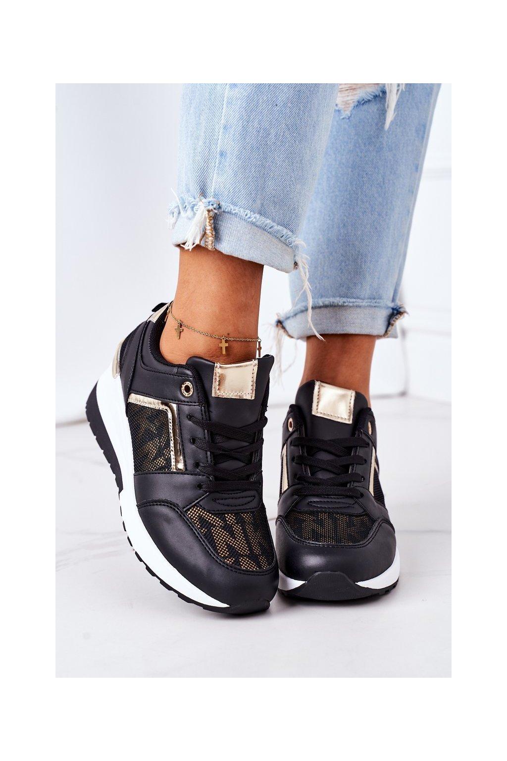 Dámske tenisky farba čierna kód obuvi BK211 BLACK
