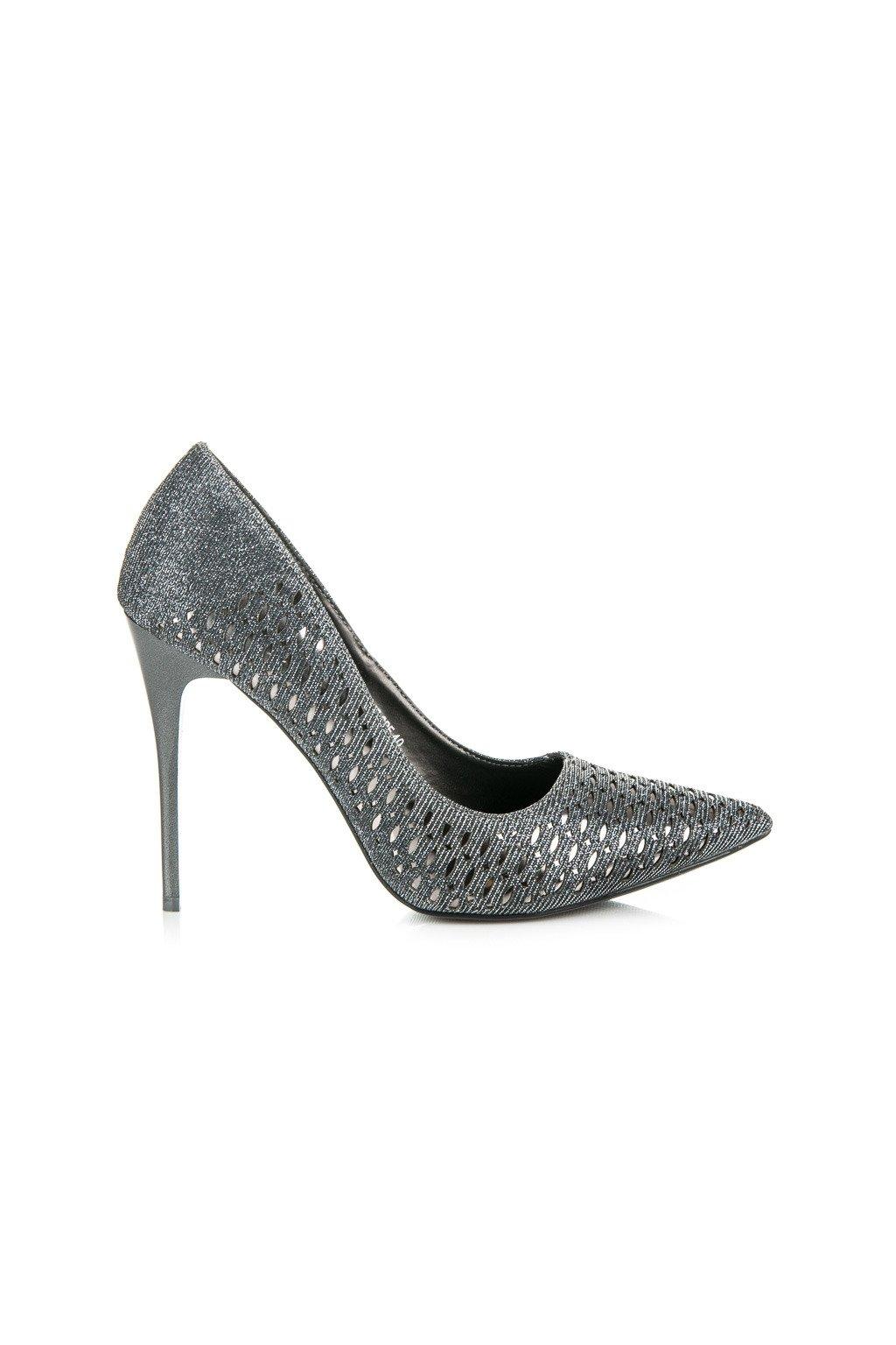 Sivé elegantné lodičky Vinceza LEI16-2815S