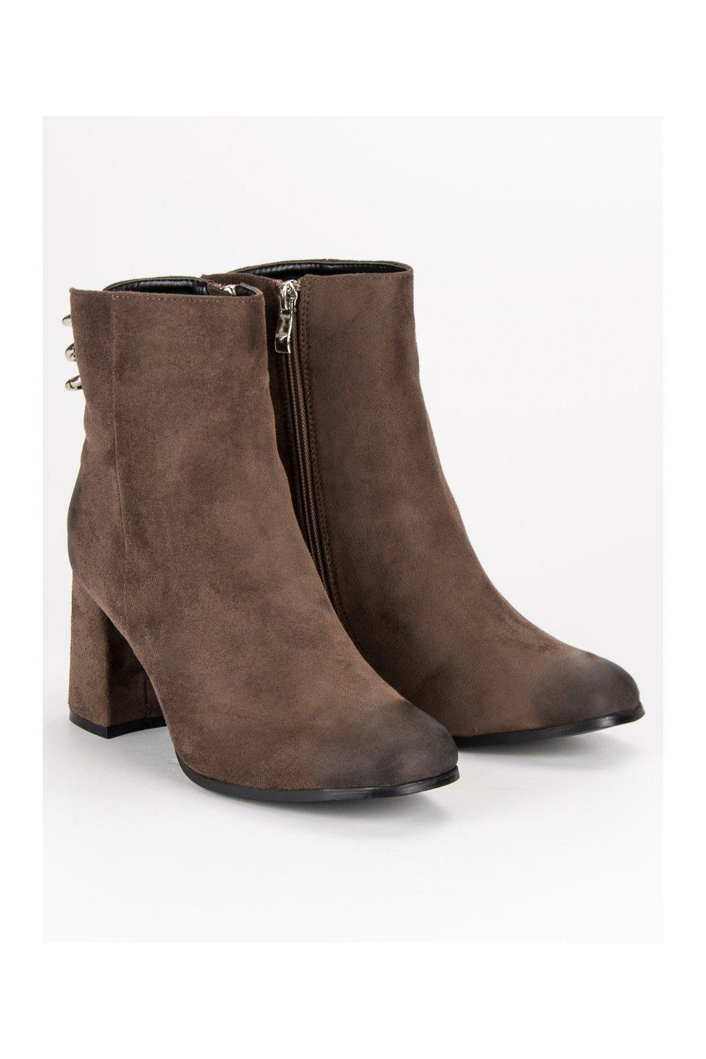 Členkové topánky NJSK YQE19-1774BR