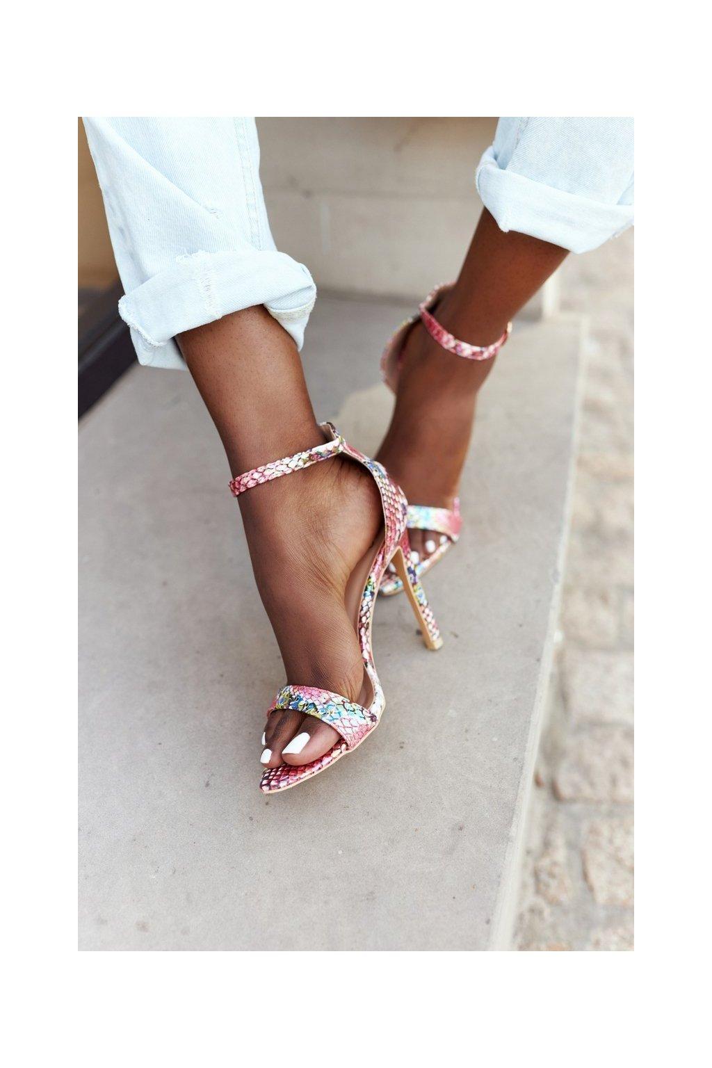 Dámske sandále farba ružová NJSK B0982-2B ROSERED