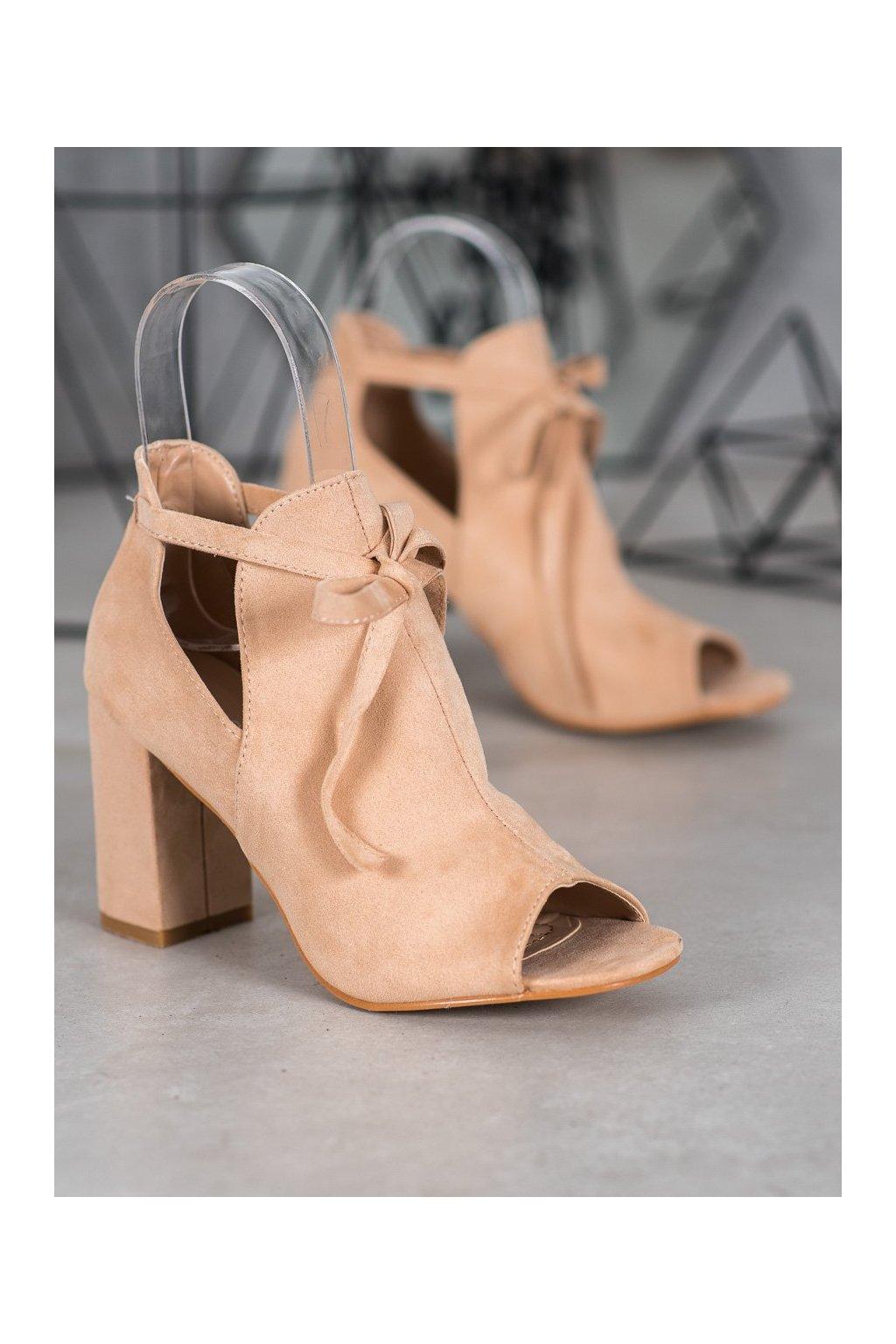 Hnedé dámske topánky NJSK YQE20-1751BE