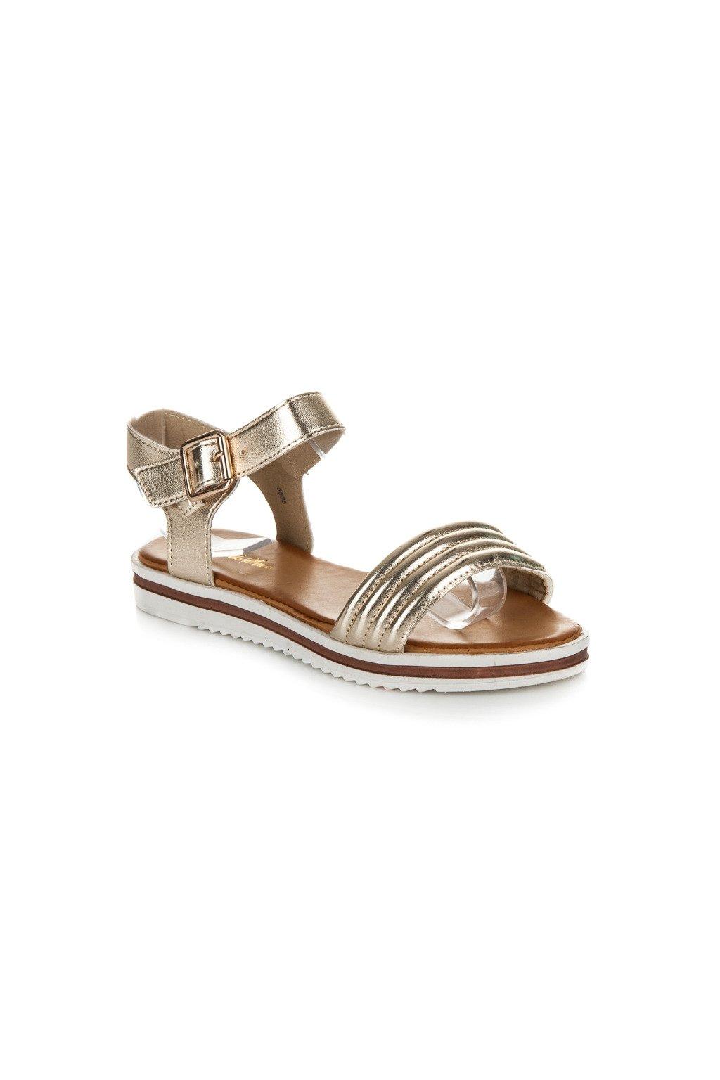 182836 luxusne zlate sandale na platforme 5835go big