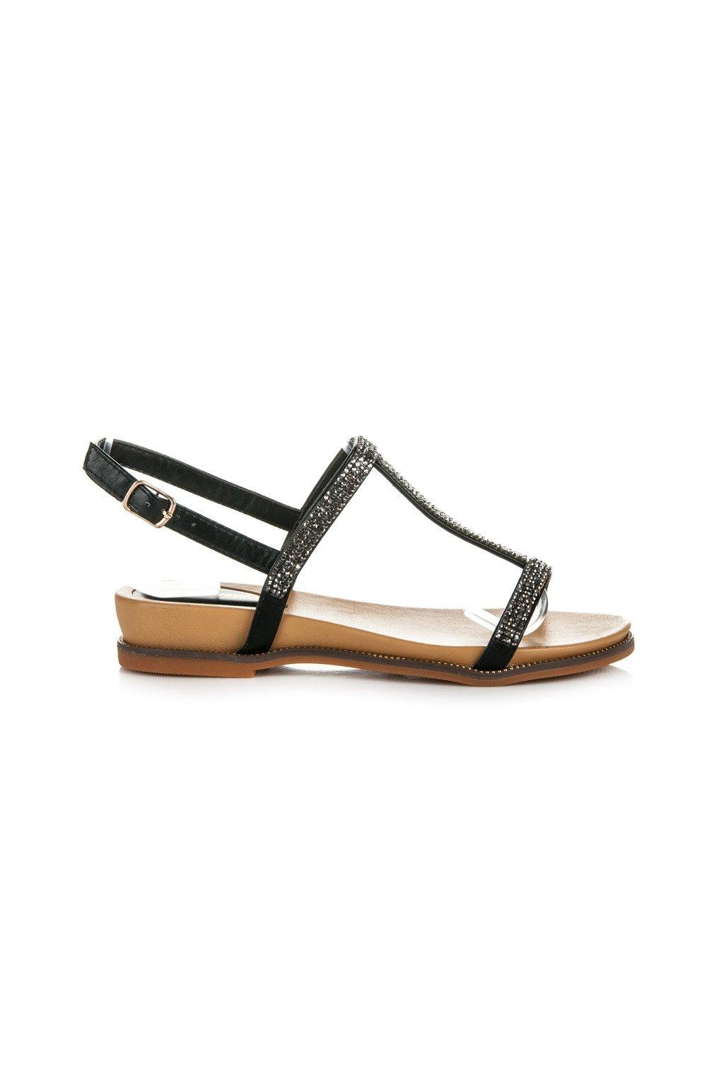182161 cierne sandale zdobene kamienkami 99 12b big