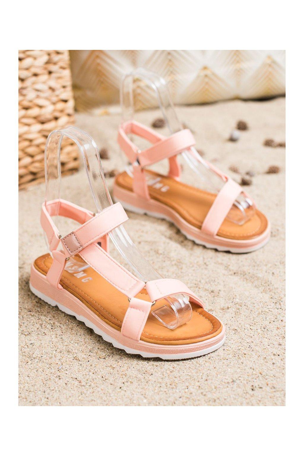Ružové sandále NJSK WS9027P