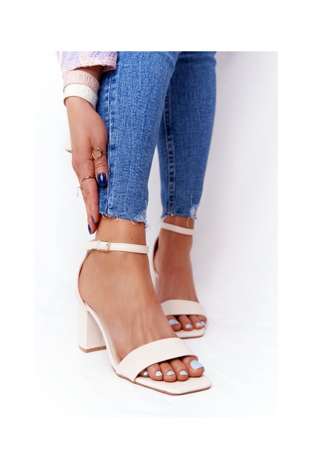 Béžové sandále NJSK LL-245P