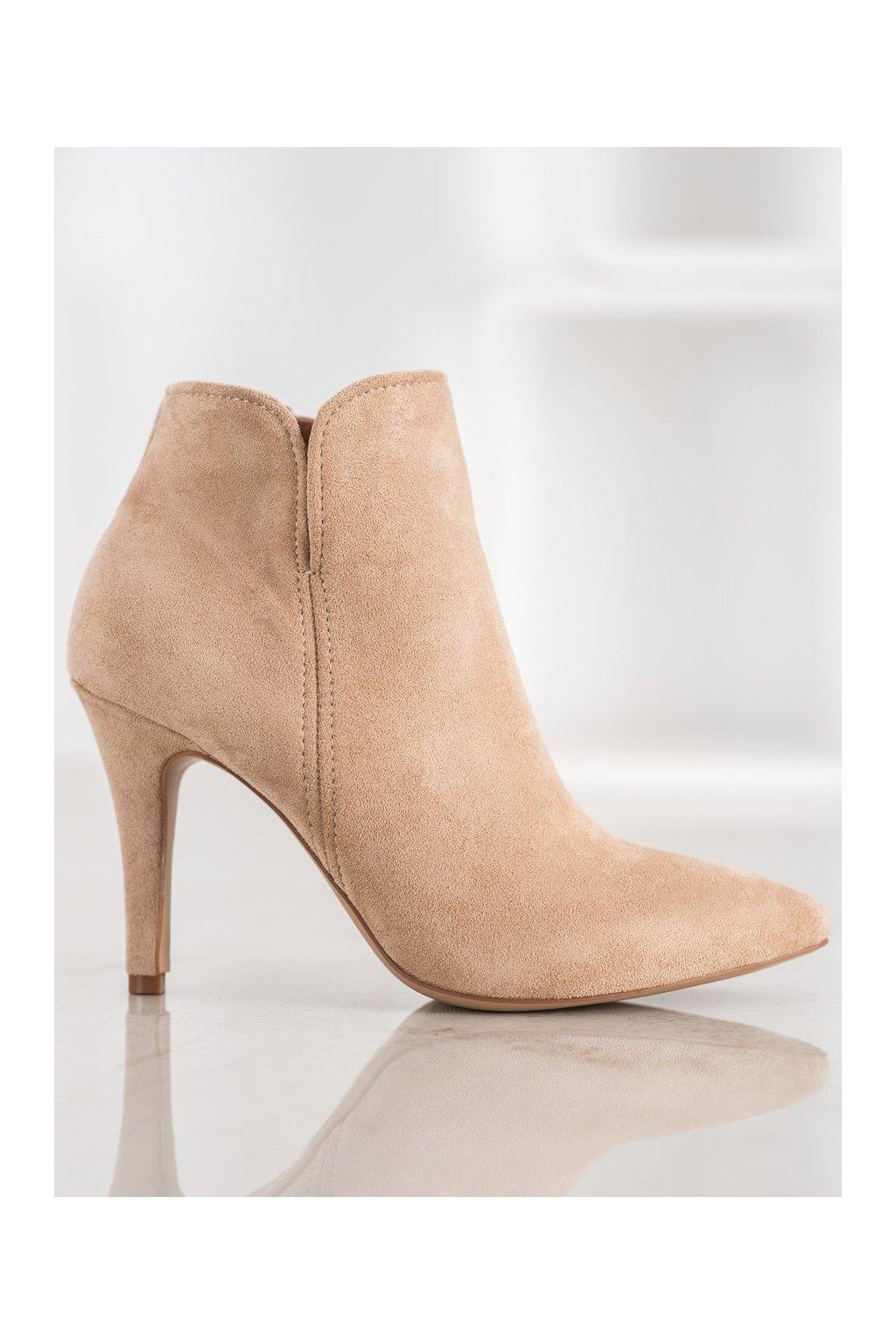 Hnedé topánky NJSK A8503KH