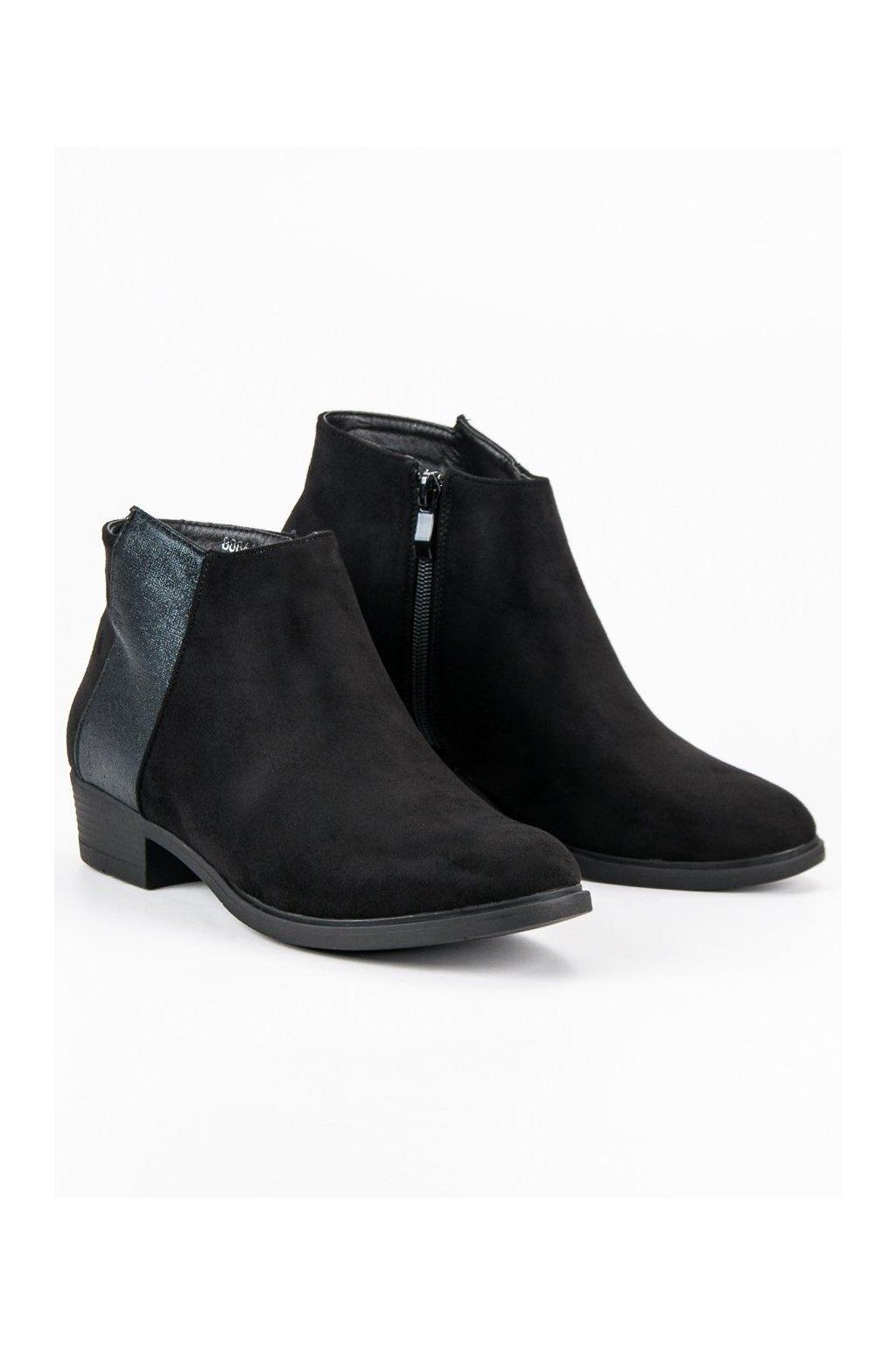 Čierne topánky NJSK 88861B