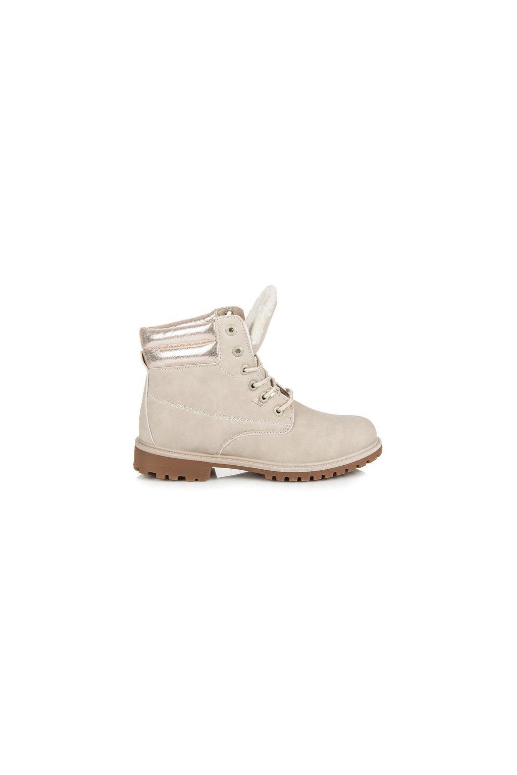 Béžové topánky NJSK AA-12BE