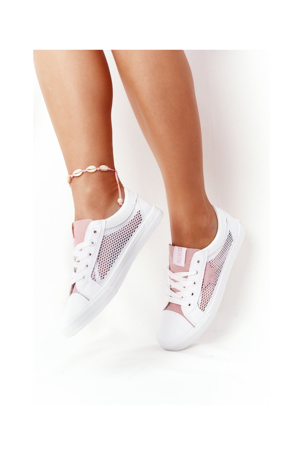 Dámske tenisky farba biela kód obuvi DD274688 WHITE PINK
