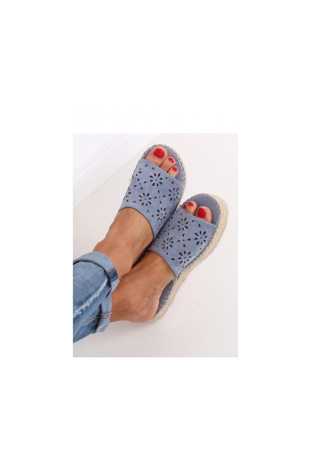 sandal klapki azurowe espadryle niebieskie 99 62a blue inello